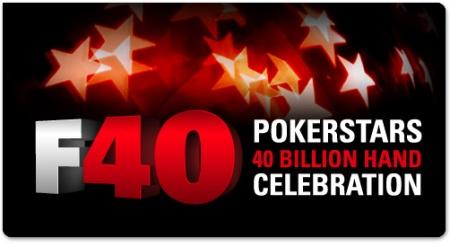 F40 PokerStars 40 Billion Hand Celebration