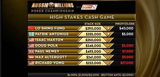 Aussie Millions High Stakes Cash Game, capítulo 1 - Capturacashgameaussie.JPG