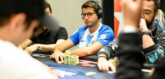 ¡Juan Pardo va chip leader del High Roller de 50.000 € con 9 left!