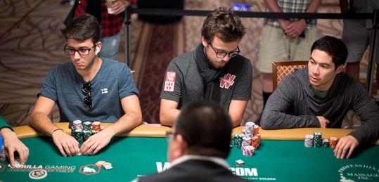 La mesa de Mario Navarro en el Día 7 de las WSOP