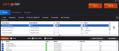 Partypoker estrena nuevo software para el mercado español - lobby.PNG