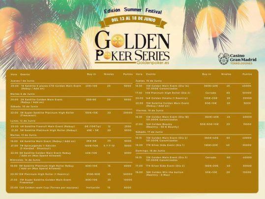 Cuenta atrás para la segunda parada de las Golden Poker